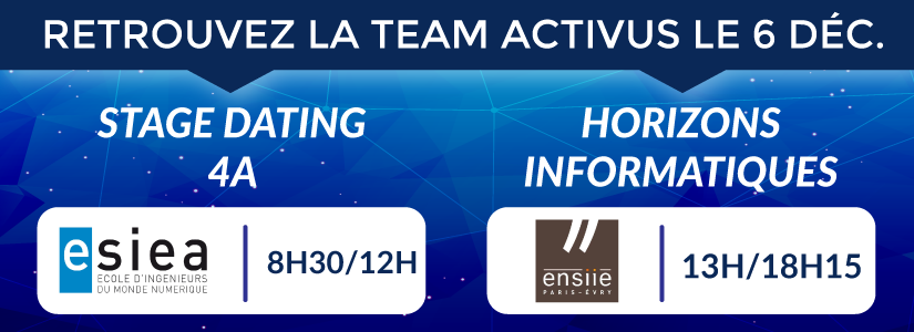 Activus group stage dating 4A ESIEA et  Forum Horizons informatiques ENSIIE